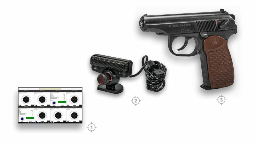 Лазерный тир электронный ⋆ТИР ЭЛЕКТРОН⋆ комплект 8